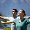 Yoga in den Alpen