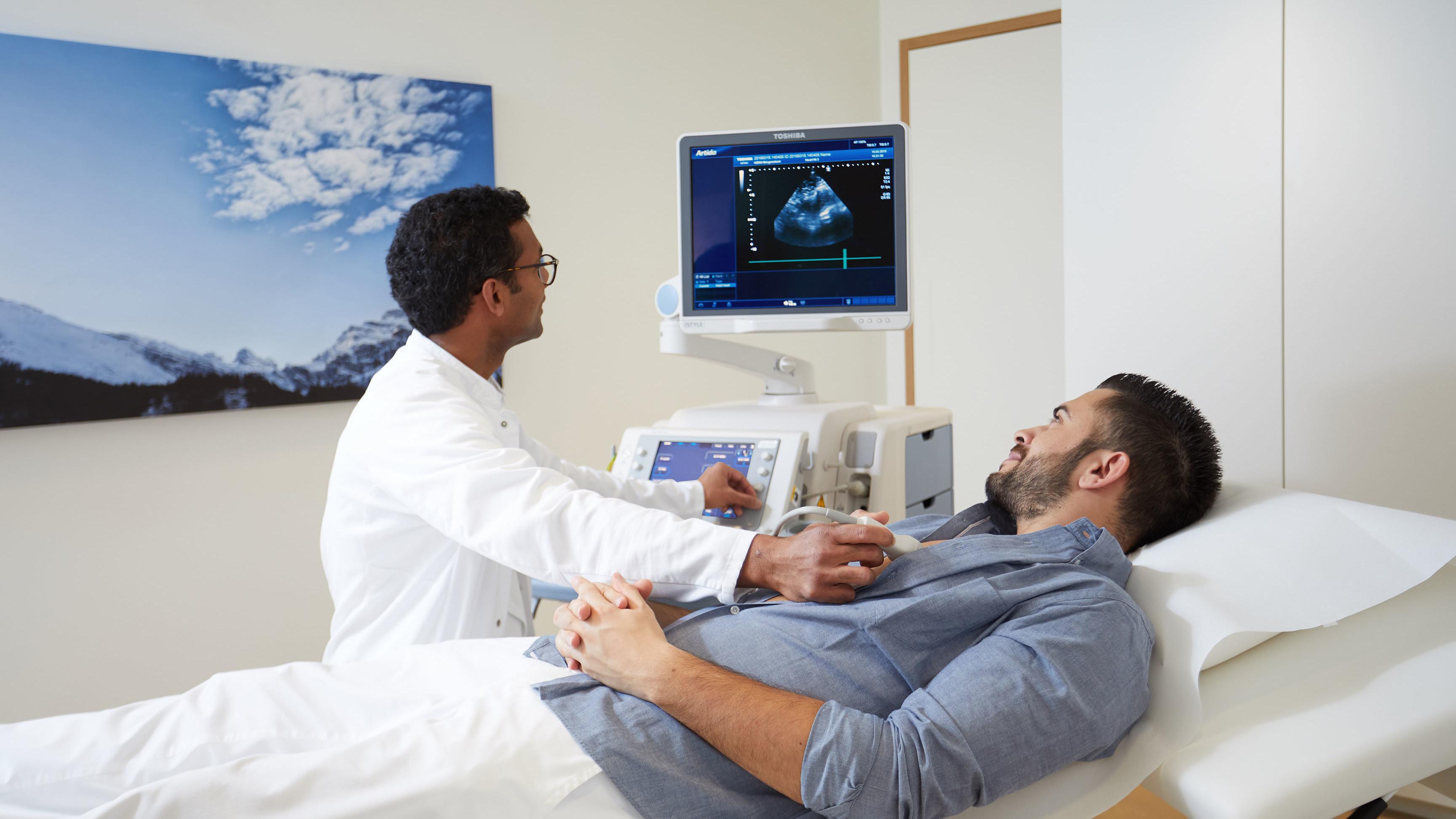 Ultraschall Untersuchungen beim Waldhotel Cardio Check Programm