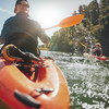Kayak fahren auf dem Lake Lucerne