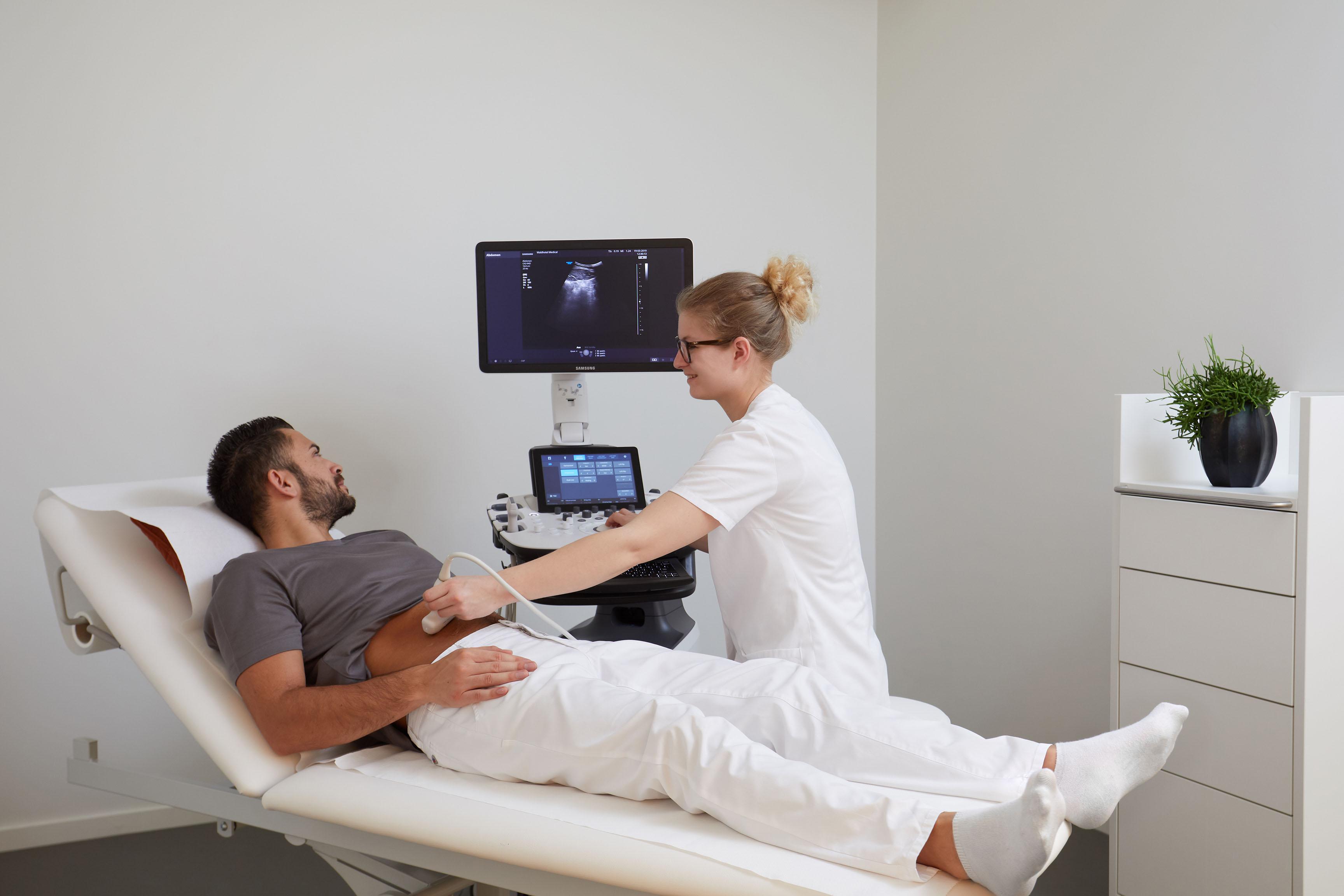 Ultrasonic testing at urgologist