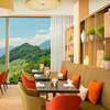 Das Verbena Restaurant mit Blick über die Schweizer Alpen